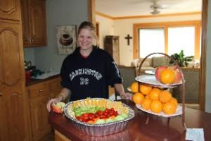 Anne Koehlinger teaching culinary arts in Rose School
